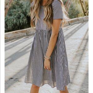 Roolee St. Louis Gingham Short Sleeve Dress